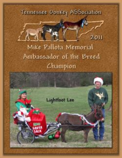 2011 Tennessee Donkey ASSociation's High Point Ambassador!